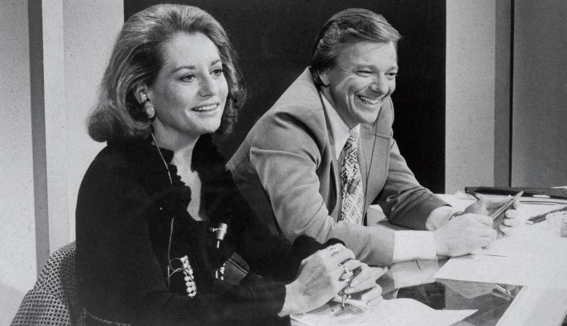 Entrevistas famosas de Barbara Walters - En la foto con Jim Hartz en el set de Today Show de NBC en 1974
