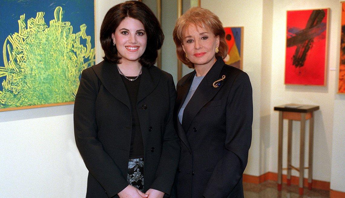 Entrevistas famosas de Barbara Walters - En la foto con Mónica Lewinsky en 1999