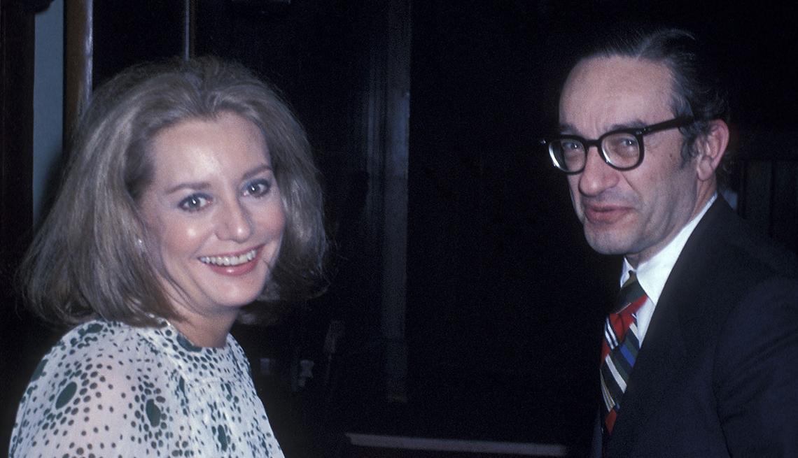 Entrevistas famosos de Barbara Walters - En la foto con el economista Alan Greenspan