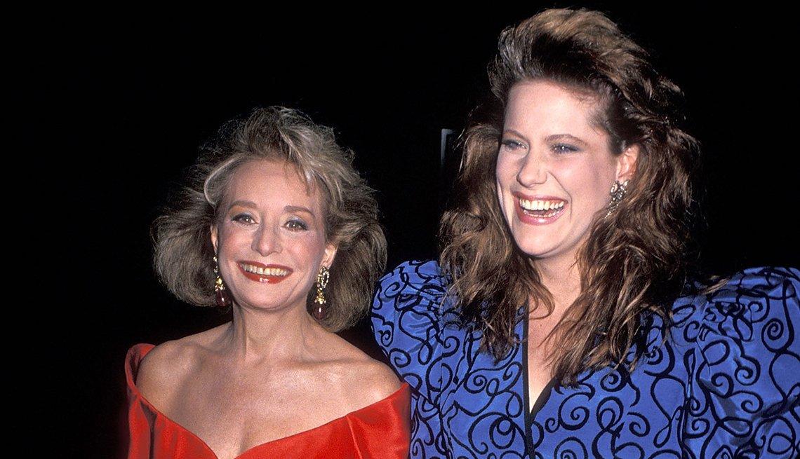 Entrevistas famosos de Barbara Walters - En la foto con su hija Jackie
