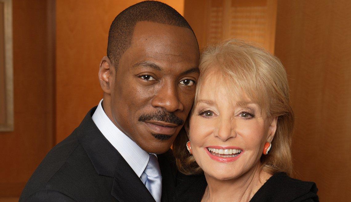 Entrevistas famosas de Barbara Walters - En la foto con Eddie Murphy