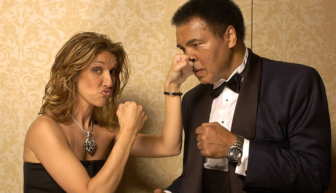 Celine Dion and Muhammad Ali