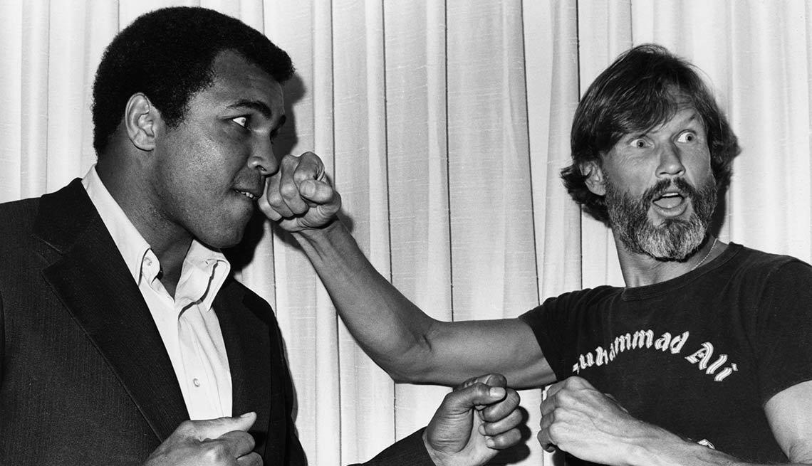 Kris Kristofferson and Muhammad Ali