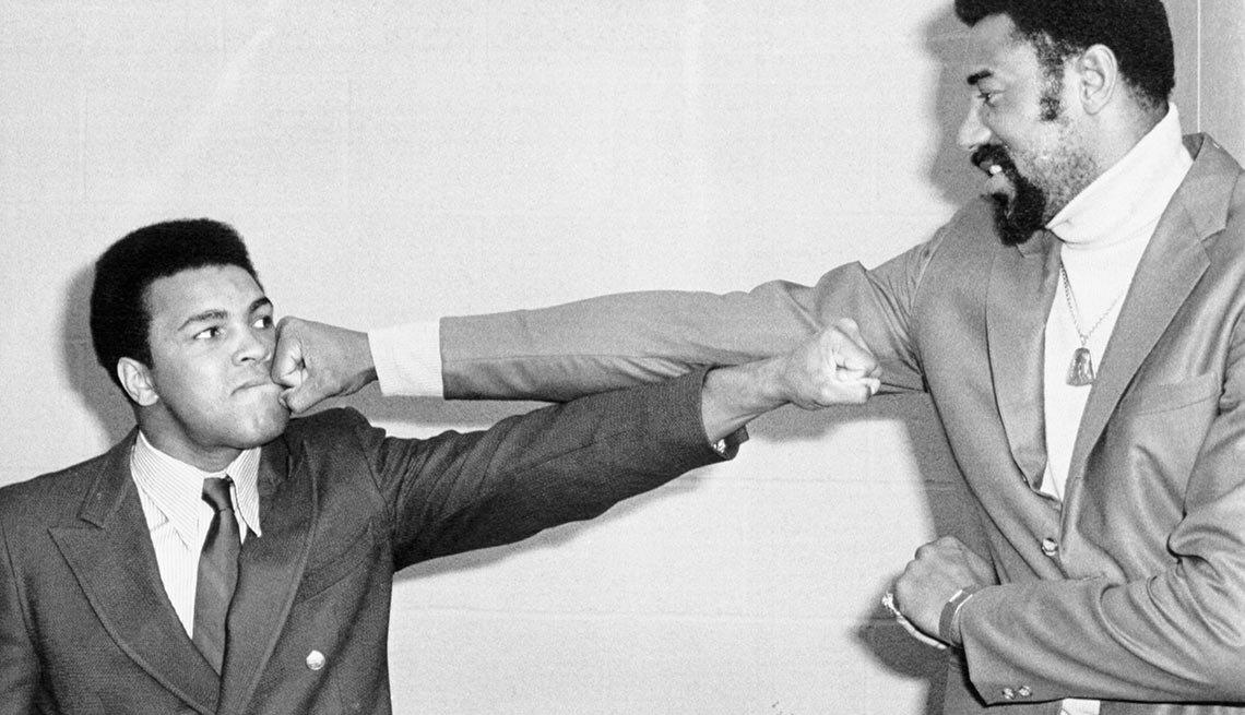 Wilt Chamberlain and Mohammed Ali