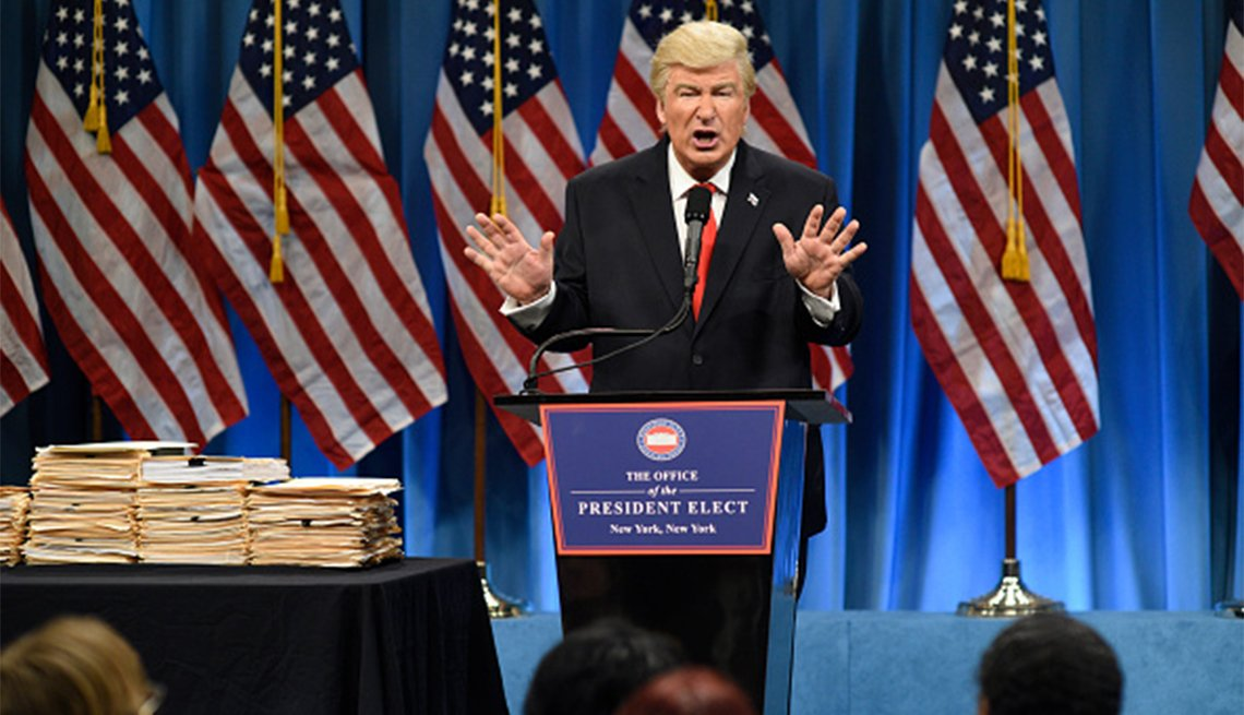 Alec Baldwin as Donald Trump on Saturday Night Live