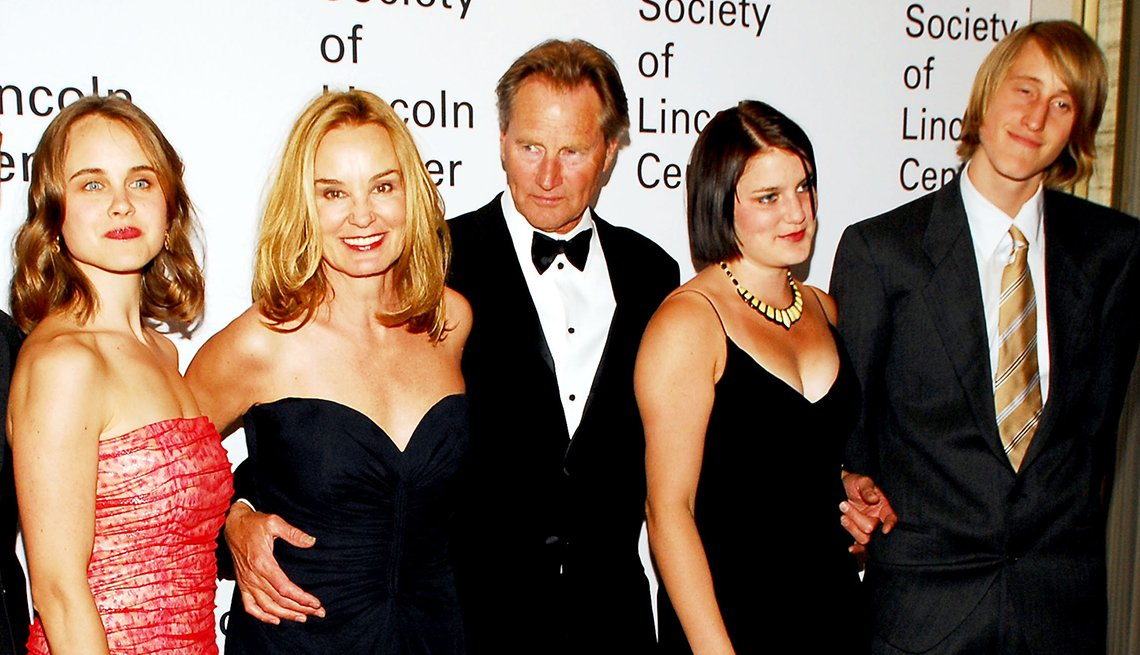 Left to right: Shura Baryshnikov, Jessica Lange, Sam Shepard, Hannah Shepard and Walker Shepard in 2006