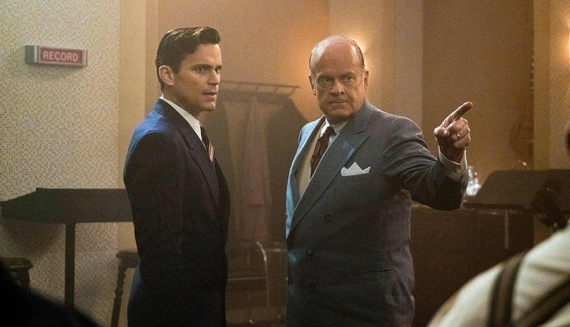 Matt Bomer as Monroe Stahr and Kelsey Grammer as Pat Brady in 'The Last Tycoon'