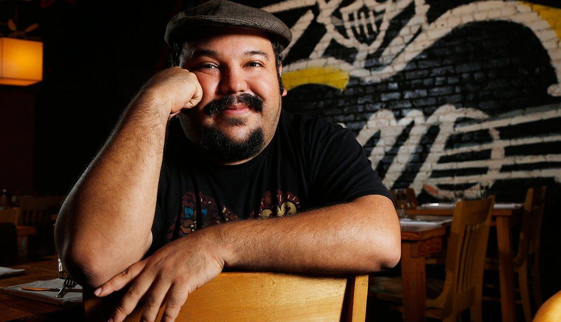 Retrato de Jorge Gutiérrez, director de la película animada The Book of Life.