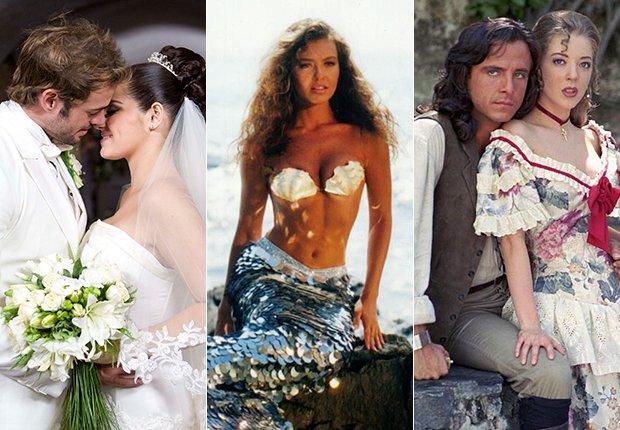 William Levi y Maité Perroni, Thalía, Eduardo Palomo y Edith González en varias escenas de telenovelas