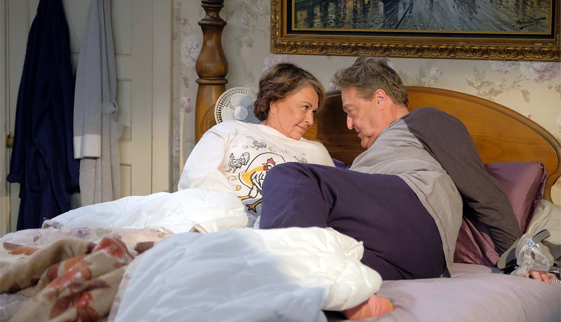 Roseanne and Dan adjust to living under the same roof