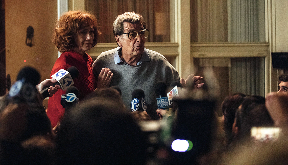 Kathy Baker and Al Pacino in PATERNO
