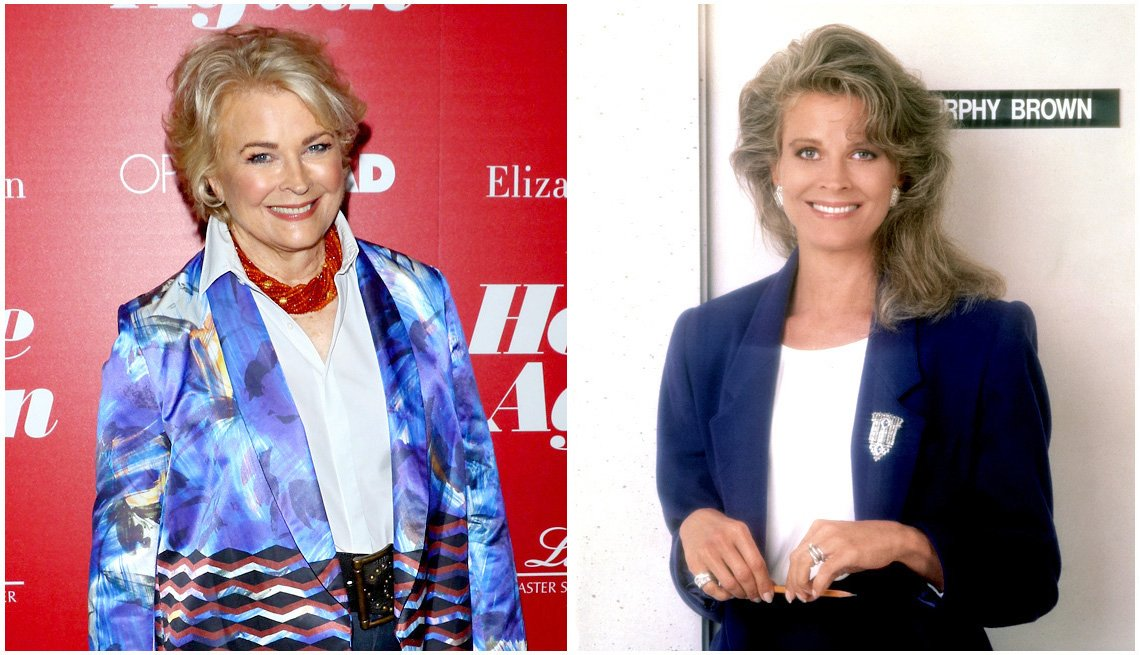 Candace Bergen, both then and now, as 'Murphy Brown'
