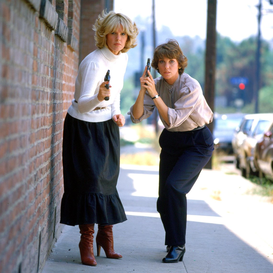Sharon Gless and Tyne Daly as cops in 'Cagney & Lacey'