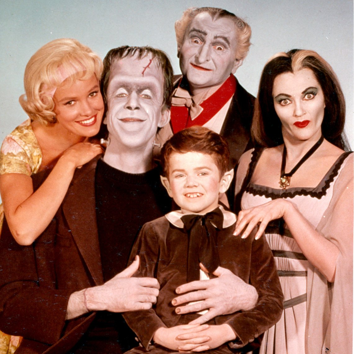 Publicity photo of the stars of 'The Munsters'