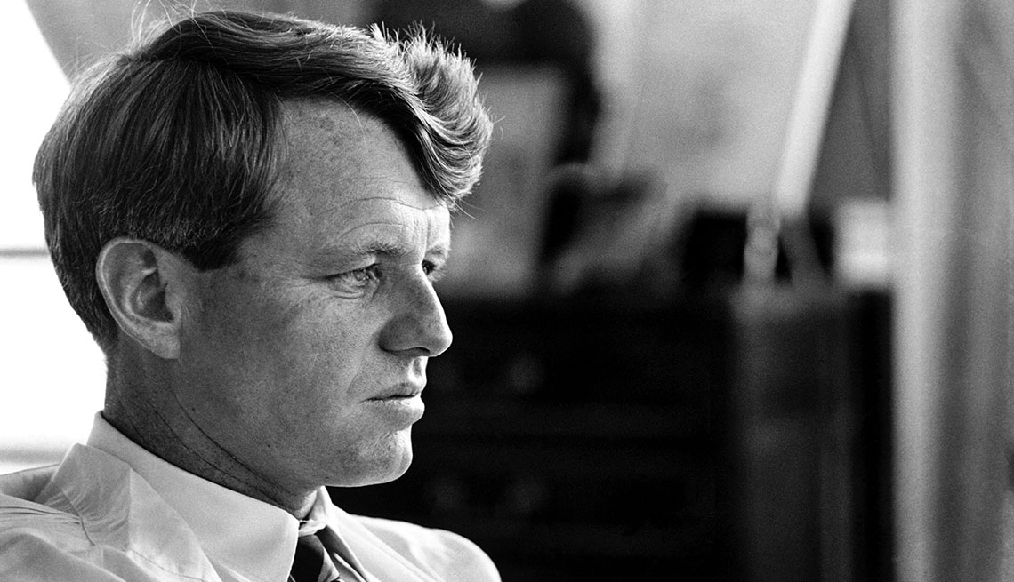 item 1 of Gallery image - Portrait of Robert KENNEDY in his apartment
