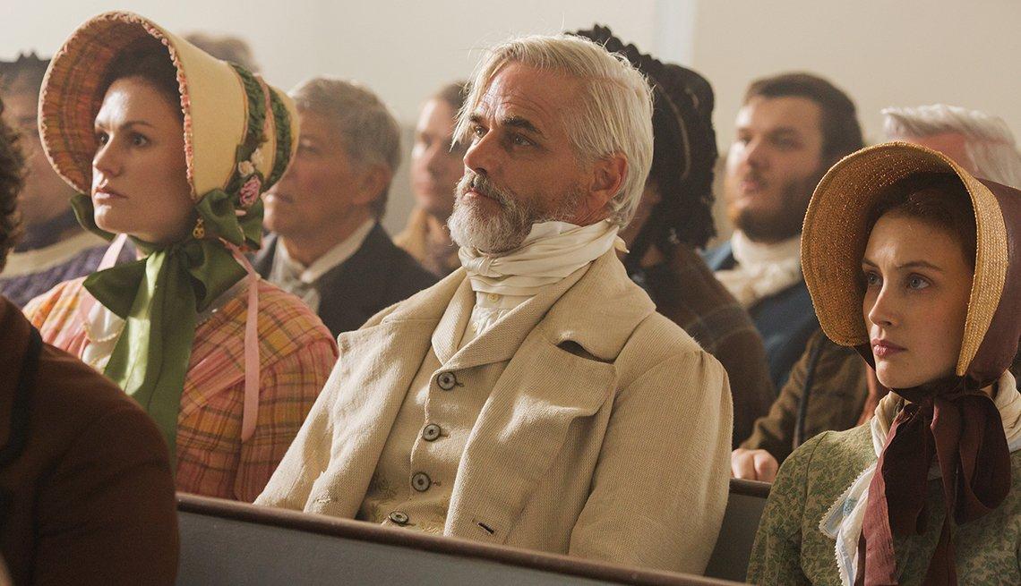 Anna Paquin, Paul Gross, Sarah Gadon in a scene from 'Alias Grace' on Netflix