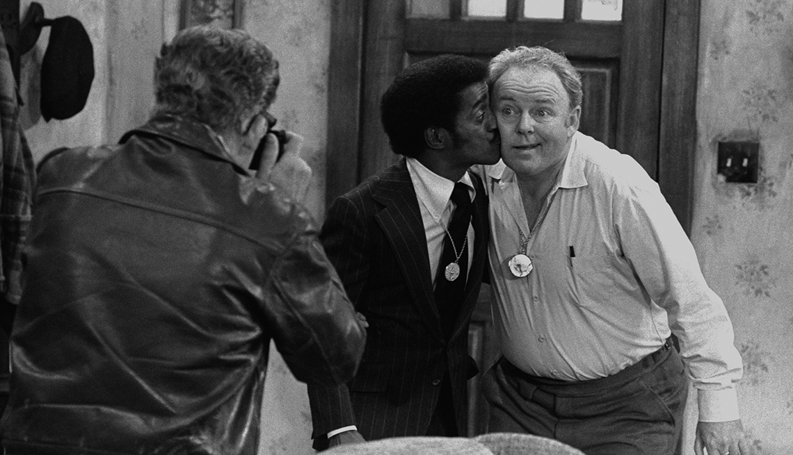 "Sammy Davis Jr., Carroll O'Connor in ""All in the Family"""