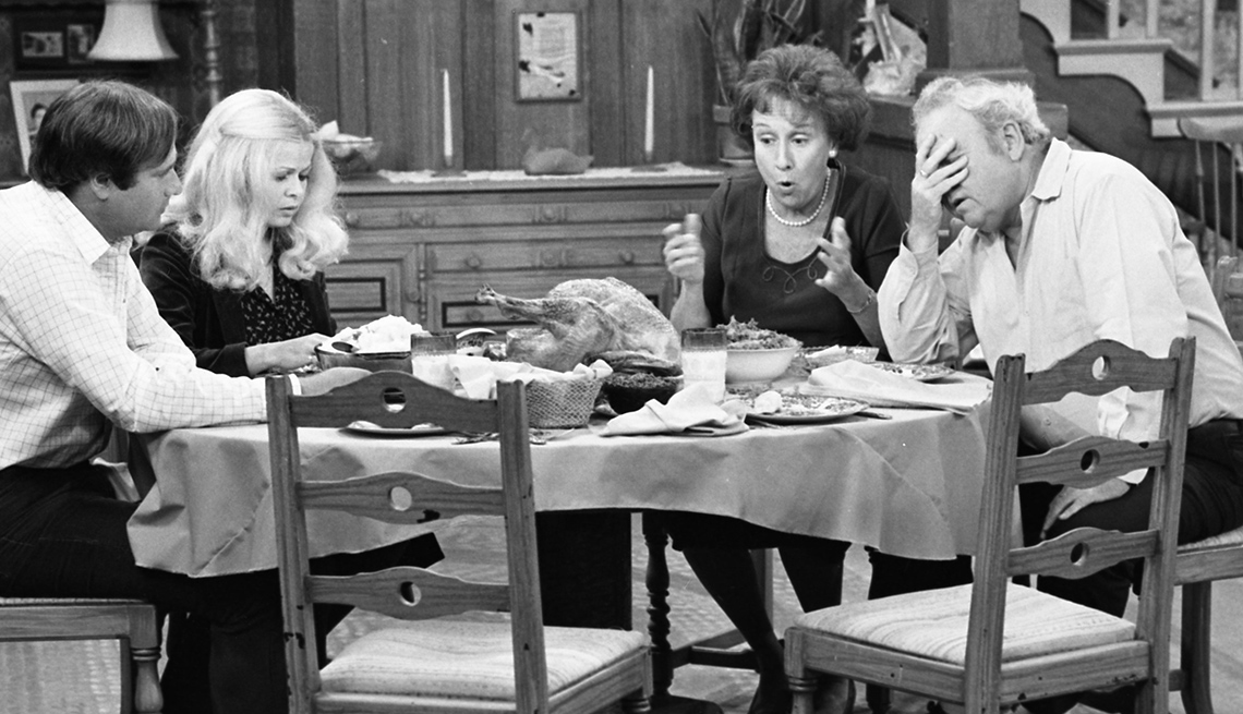 """item 1 of Gallery image - Rob Reiner, Sally Struthers, Carroll O'Connor and Jean Stapleton in """"All in the Family"""""""