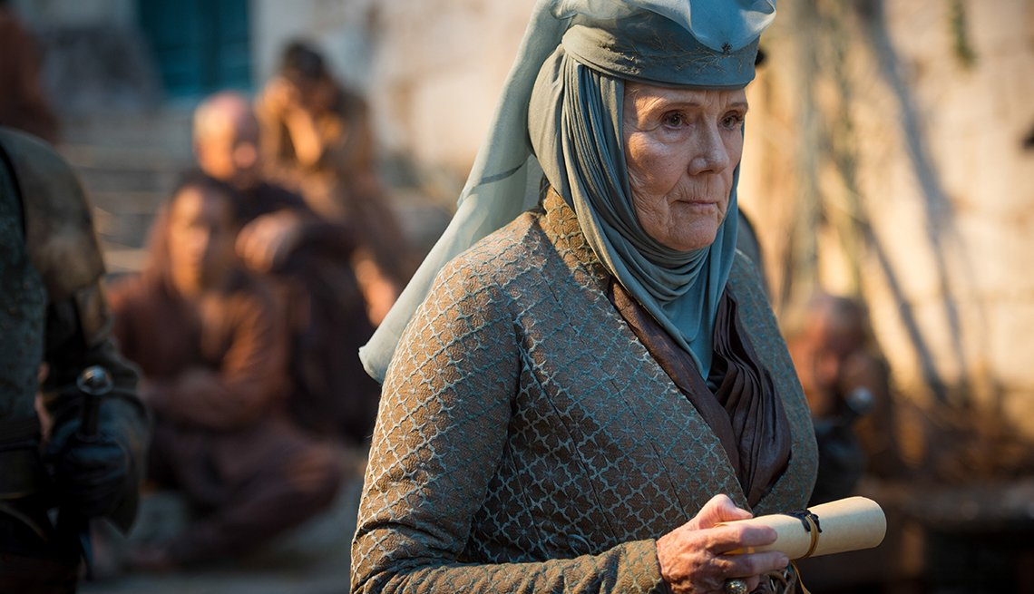 """Diana Rigg in a scene from """"Game Of Thrones"""""""