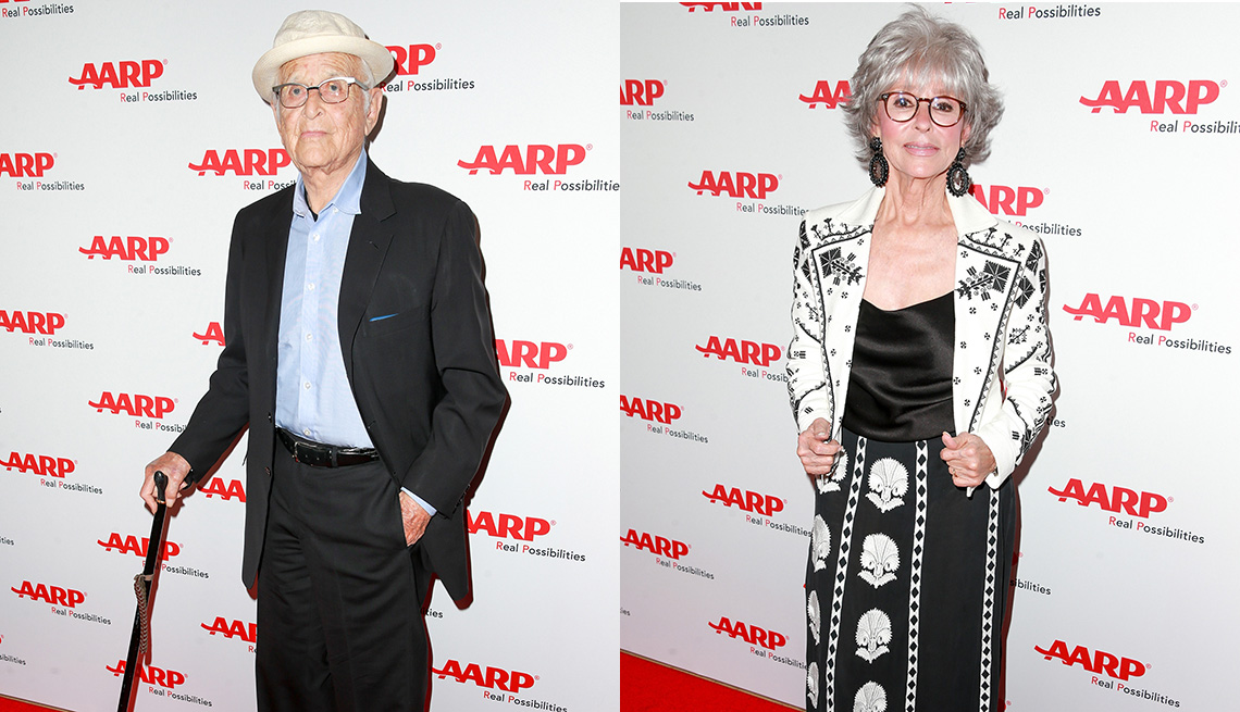 norman lear, rita moreno at AARP's TV for Grownups Honors