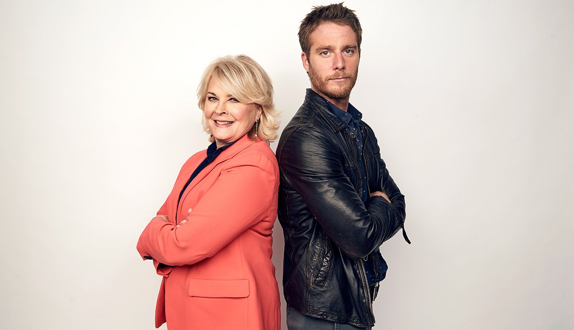 "Candice Bergen and Jake McDorman in CBS' reboot of ""Murphy Brown"""