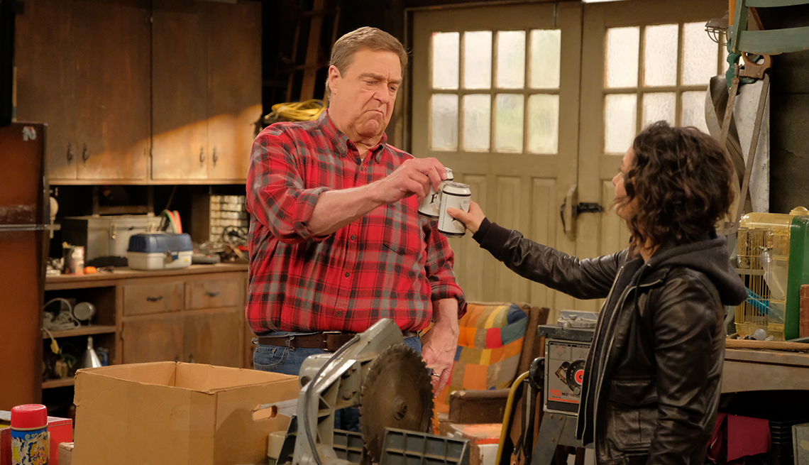 """item 9 of Gallery image - John Goodman and Sara Gilbert in ABC's """"The Conners"""""""