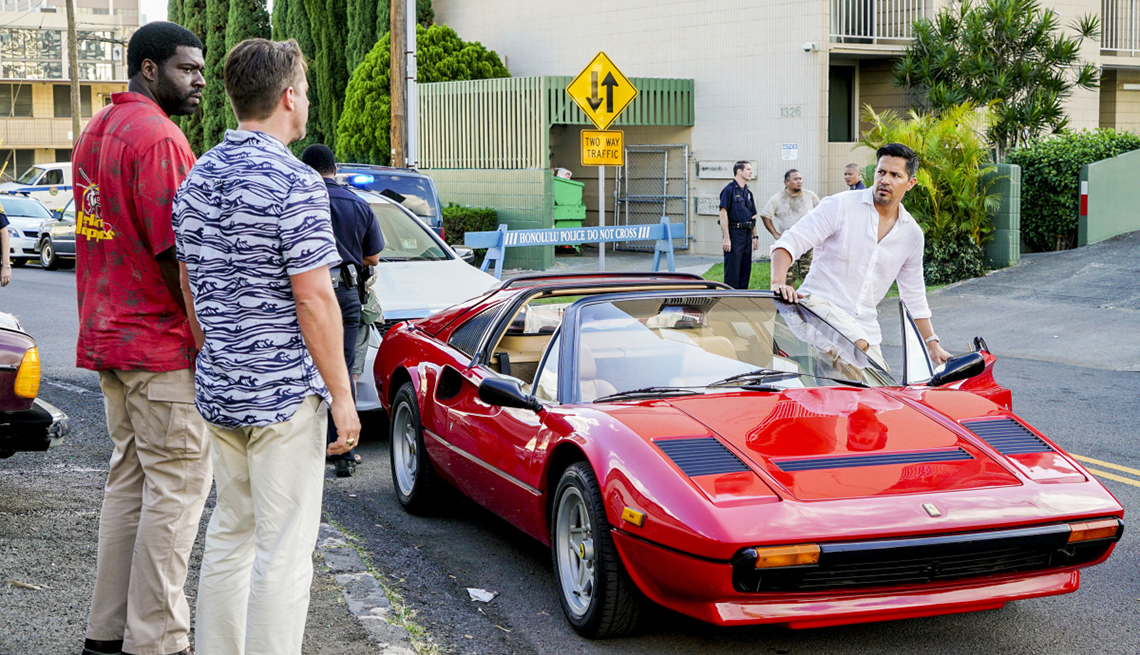 """item 2 of Gallery image - Stephen Hil, Zachary Knighton and Jay Hernandez in CBS' """"Magnum, P.I."""""""