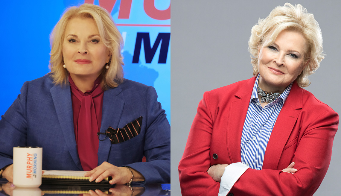 Candice Bergen, as Murphy Brown and as herself