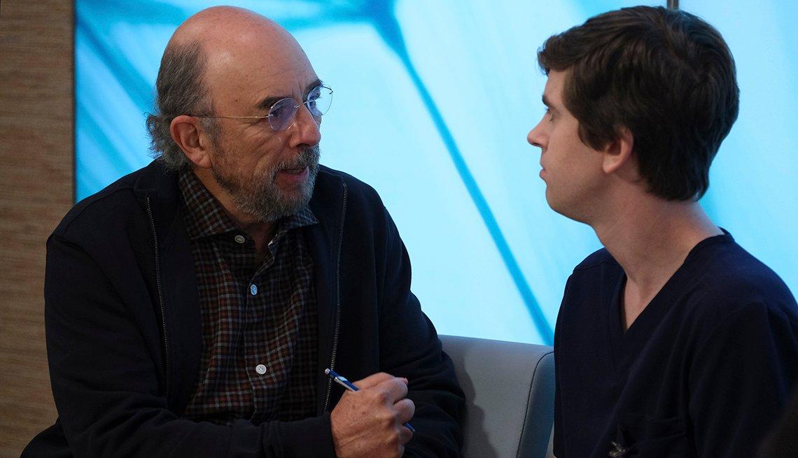 Richard Schiff and Freddie Highmore
