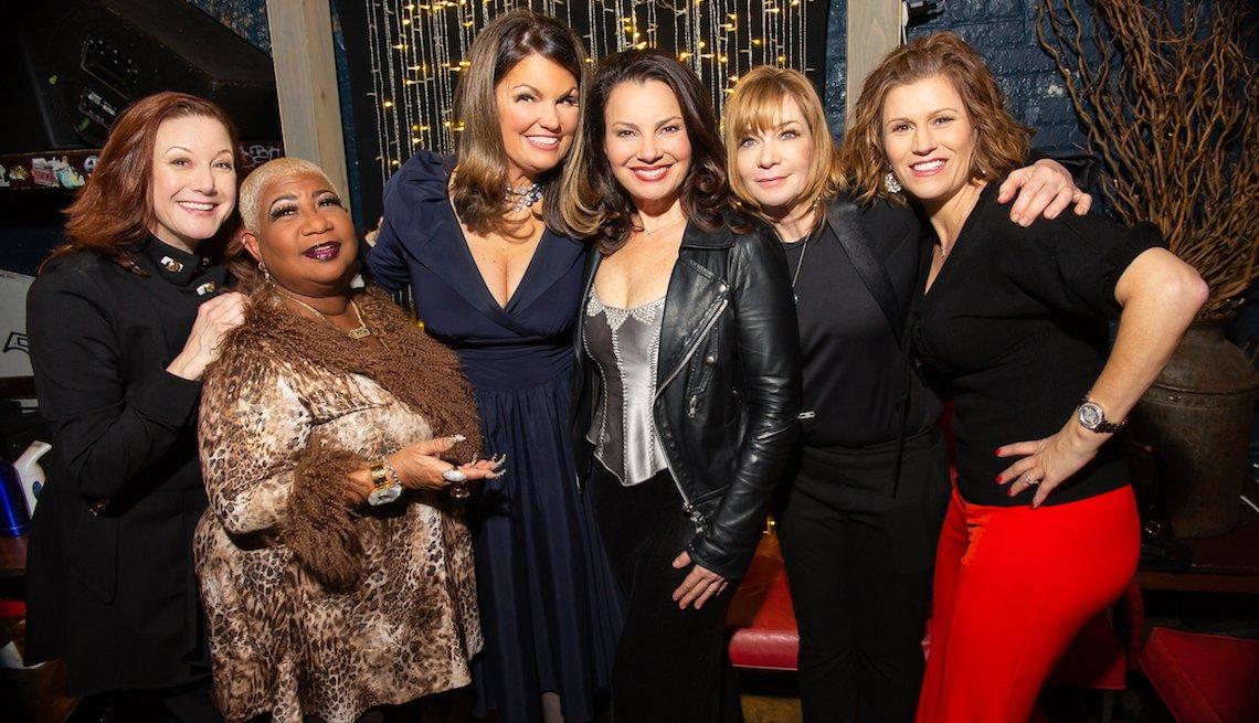 Carole Montgomery, Luenell Lynne Koplitz, Fran Drescher, Vanessa Hollingshead y Kerri Louise