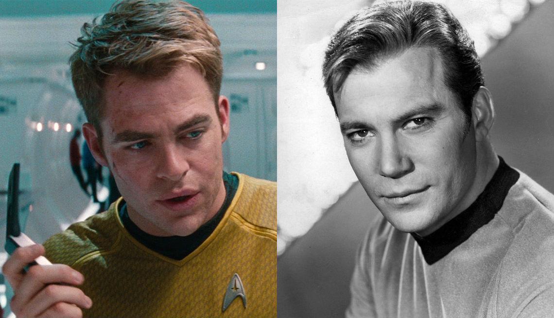 item 2 of Gallery image - Chris Pine y William Shatner como el Capitán  Kirk en 'Star Trek'