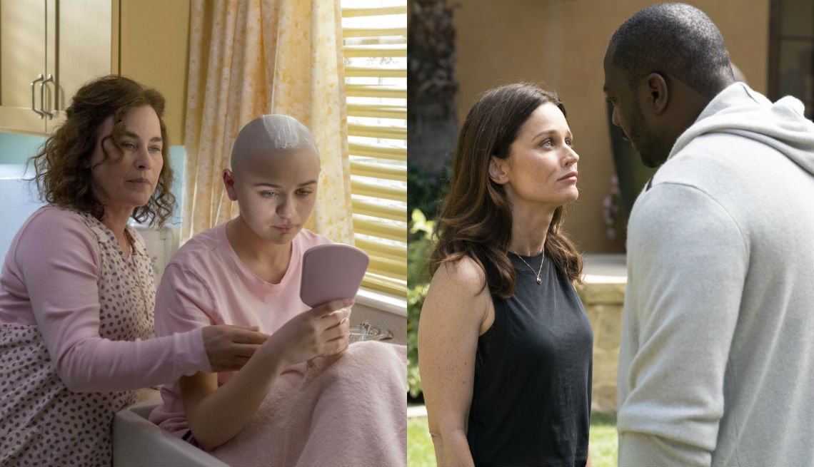 Patricia Arquette and Joey King in The Act Robin Tunney and Adewale Akinnuoye-Agbaje in a scene from The Fix