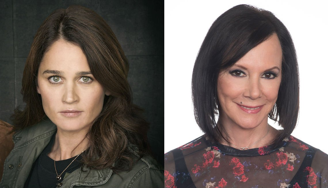 Robin Tunney and Marcia Clark