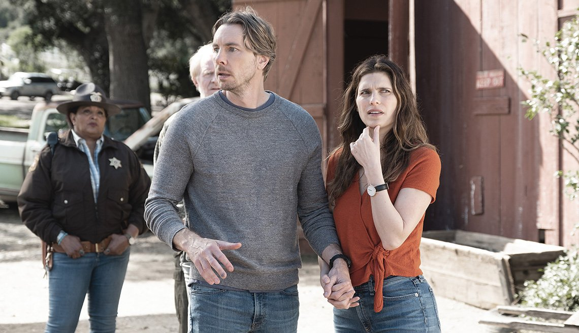 Dax Shepard and Lake Bell in a scene from 'Bless This Mess'