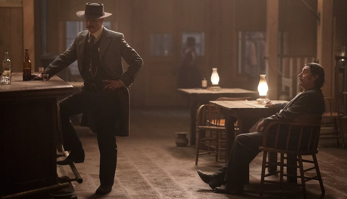A scene from the 'Deadwood' movie