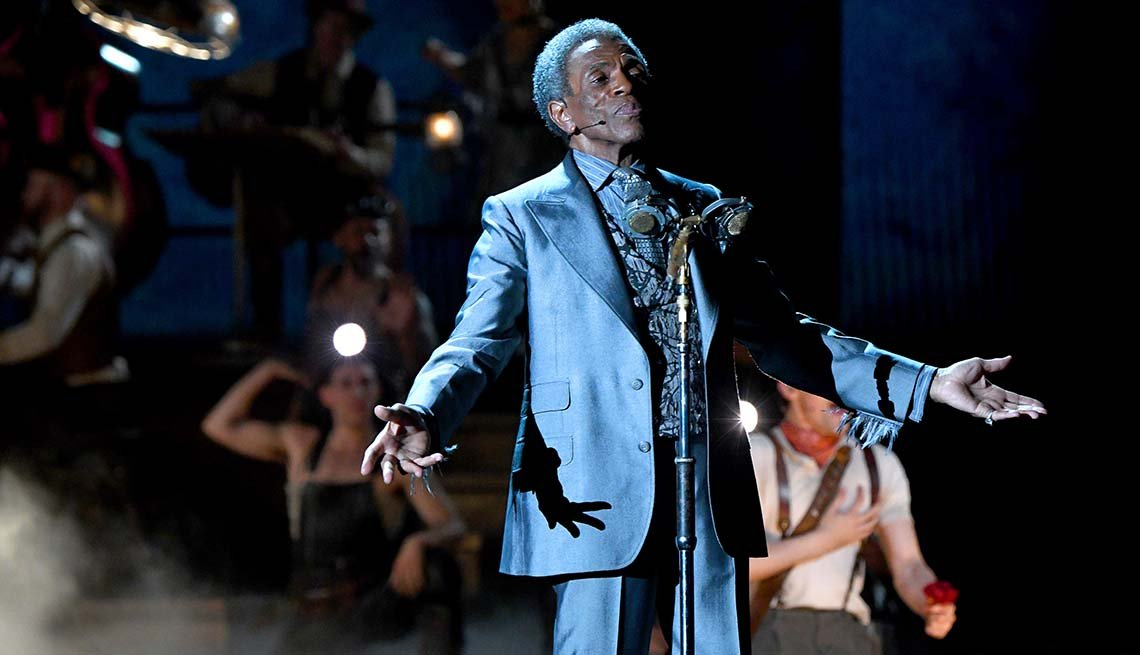item 3, Gallery image. Andre De Shields, winner of the award for Best Performance by an Actor in a Featured Role in a Musical for 'Hadestown,'  performs onstage for the 73rd Annual Tony Awards.