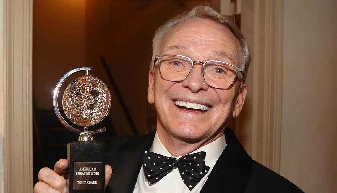item 4, Gallery image. Best Costume Design in a Musical winner Bob Mackie poses in the press room for The 2019 Annual Tony Awards.