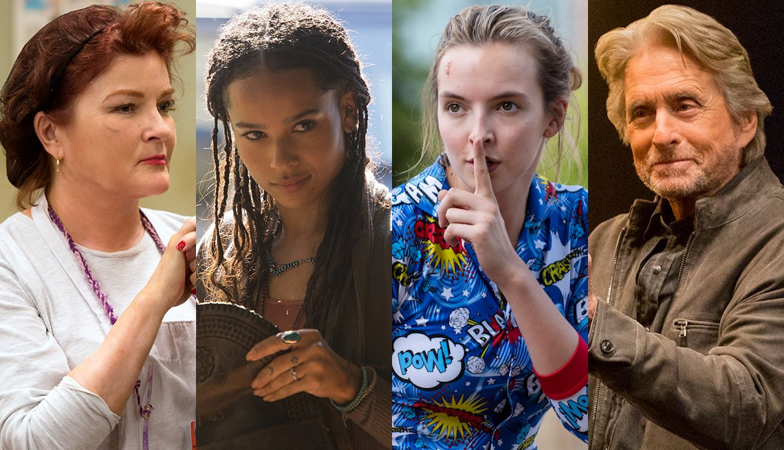 Orange is the New Black, Big Little Lies, Killing Eve, The Kominsky Method