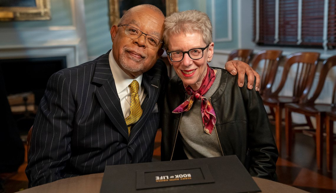Host Henry Louis Gates, Jr. with journalist Terry Gross.