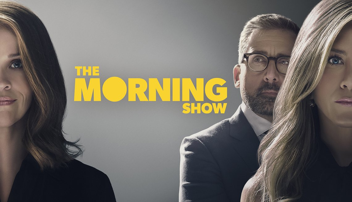 Reese Witherspoon, Steve Carell y Jennifer Aniston en 'The Morning Show'