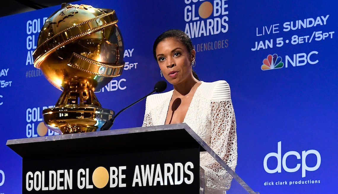 Presenter Susan Kelechi Watson speaks at the 77th Annual Golden Globe Awards Nominations Announcement at The Beverly Hilton Hotel on December 09, 2019 in Beverly Hills, California.