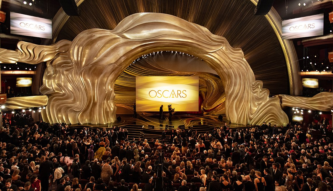 A wide shot of the stage at the 91st Oscars at the Dolby Theatre in Hollywood California on February 24 2019