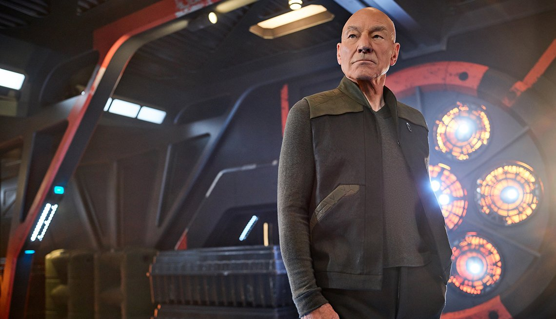 Sir Patrick Stewart as Jean Luc Picard in the series Star Trek Picard