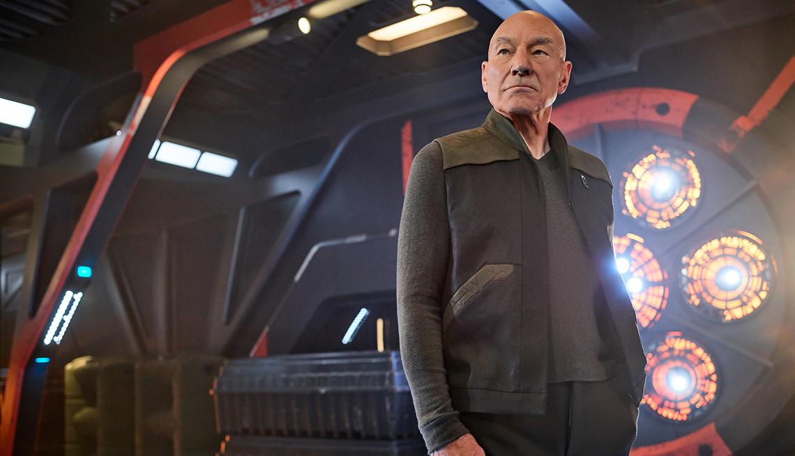 Sir Patrick Stewart as Jean Luc Picard in the series Star Trek Picard