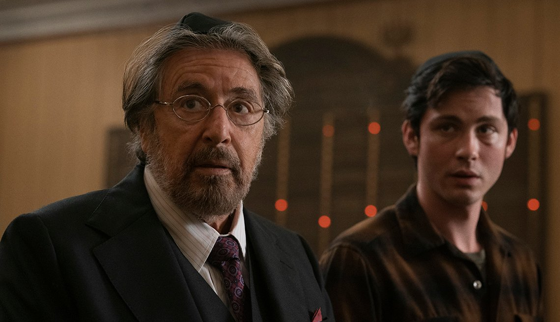 Al Pacino and Logan Lerman star in the Amazon series Hunters