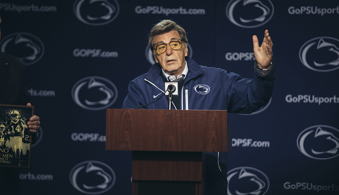 Al Pacino stars as former Penn State football coach Joe Paterno in the film Paterno