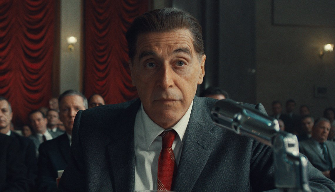 Al Pacino como Jimmy Hoffa en la película The Irishman