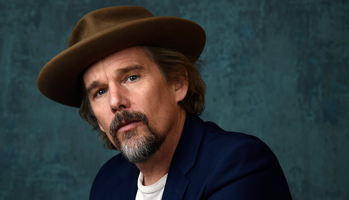 Ethan Hawke a cast member co-writer and executive producer of the Showtime limited series The Good Lord Bird poses for a portrait during the 2020 Winter Television Critics Association Press Tour