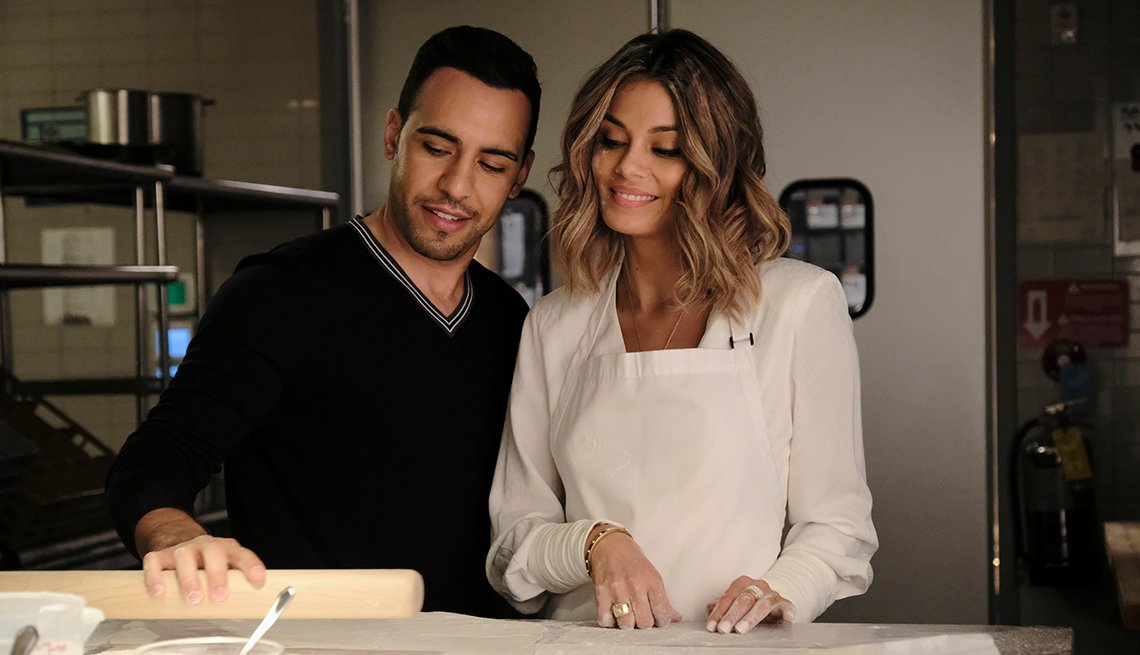 Victor Rasuk and Nathalie Kelley star in A B C's The Baker and the Beauty