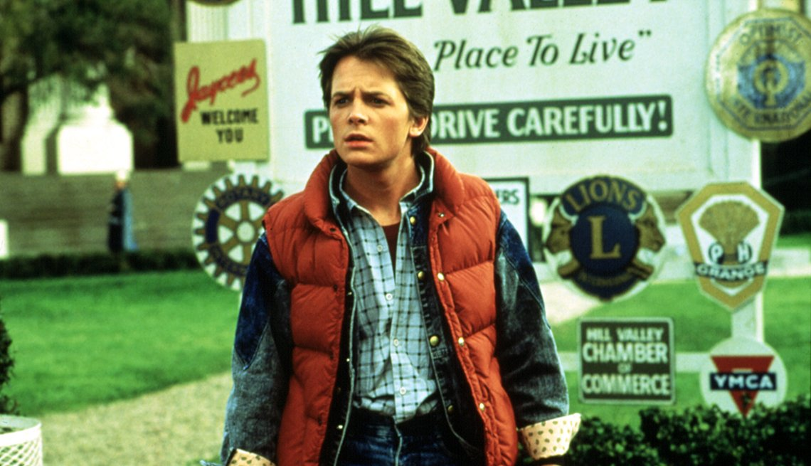 Michael J Fox en una escena  de Back to the Future